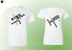 0732d953323b King QUEEN Couple T Shirts Matching Tees His and Hers New Design ...