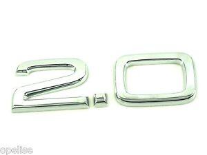 original audi 2 0 emblem a1 a3 a4 a5 a6 a7 tt tfsi tdi s. Black Bedroom Furniture Sets. Home Design Ideas