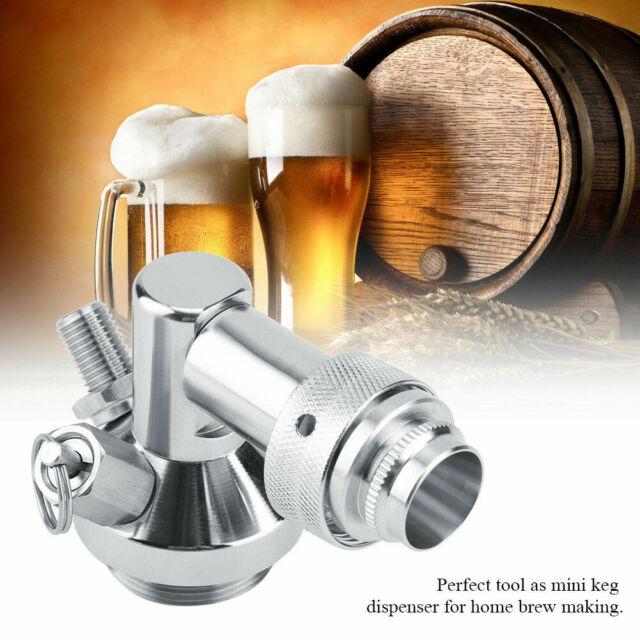 Stainless Steel Beer Spear Tap Dispenser Quick Connector For Mini Keg Homebrew K