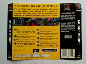 Fringant * Retour Inlay Seulement * Musique 2000 Retour Inlay Ps1 Psone Playstation-afficher Le Titre D'origine Attrayant Et Durable