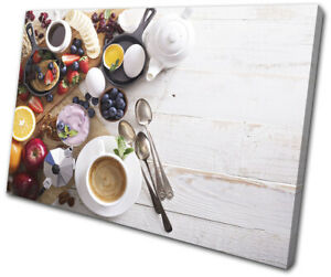 Breakfast-Healthy-Cafe-Food-Kitchen-SINGLE-CANVAS-WALL-ART-Picture-Print