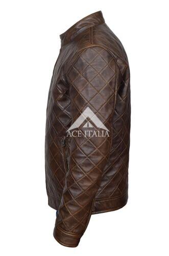 jack Napa Quilted Diamond Leren Real 4552 voor heren Wood Stitch 54ALRj