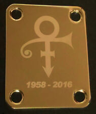 GUITAR NECK PLATE Custom Engraved Etched - PRINCE The Artist Symbol - Gold