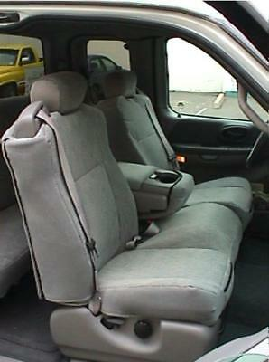 Excellent 2001 2003 Ford F150 Regular Super Cab Front Exact Seat Cover 40 60 Split Gray Ebay Pabps2019 Chair Design Images Pabps2019Com
