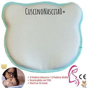 Cuscino-Neonato-Plagiocefalia-Memory-Foam-Cura-Testa-Piatta-Antisoffoco-4Federe
