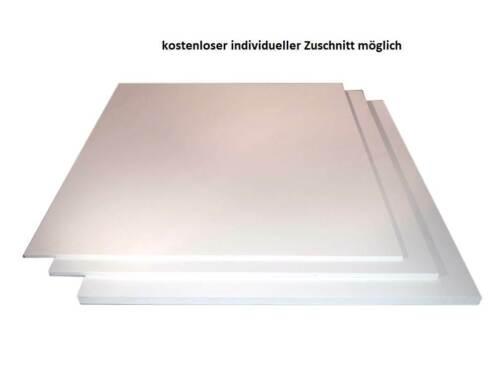 6mm PVC Hartschaum Platte Hartschaumplatte weiß Kunststoff Platte Zuschnitt