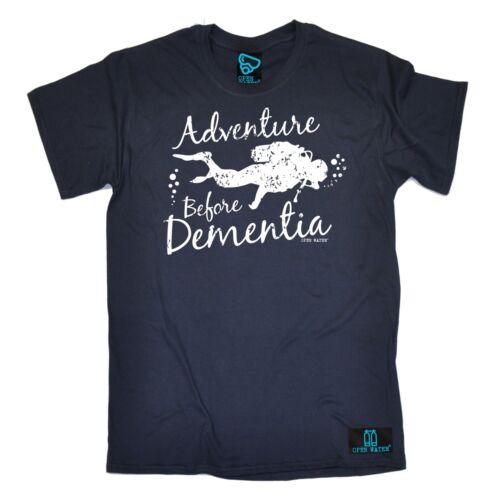 ADVENTURE Prima Demenza immersioni subacquee T-shirt Diver Scuba Compleanno Regalo Moda