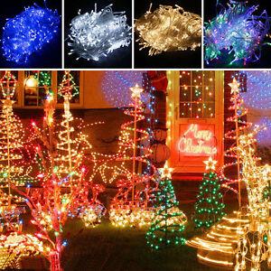 100-1000-LED-Guirlande-Lumineuse-Noel-Fete-Lampe-Exterieur-Sapin-Deco-FR-SHIP