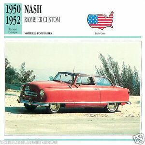 NASH-RAMBLER-CUSTOM-1950-1952-CAR-UNITED-STATES-ETATS-UNIS-CARTE-CARD-FICHE