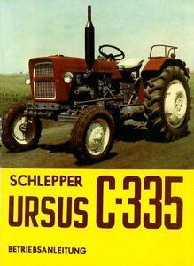 Bedienung-Schlepper-Traktor-Ursus-C-335-Polen