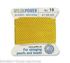 YELLOW Nylon POWER Setosa FILO 1,05 MM prendendo gioco Perle & Perline Griffin 16