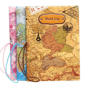 Travel document id card holder organiser world map passport image is loading travel document id card holder organiser world map gumiabroncs Image collections