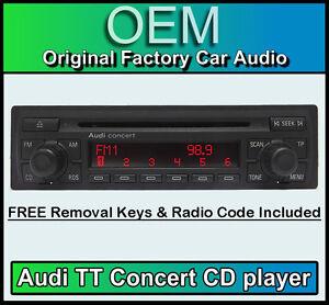 Autorradio original CD radio Concert II audi a3 s3 rs3 8p 8p0035186p