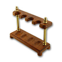 WOODEN DISPLAY STAND FOR FOUR TOBACCO SMOKING PIPES