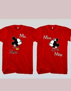 e76aaaec MICKEY AND MINNIE disney T-SHIRTS his/hers MATCHING LOVE SOUL MATE ...