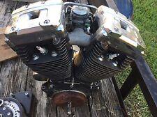 HARLEY DAVIDSON EVO STYLE ENGINE MOTOR WITH CARBURETOR STATOR FLYWHEEL USED