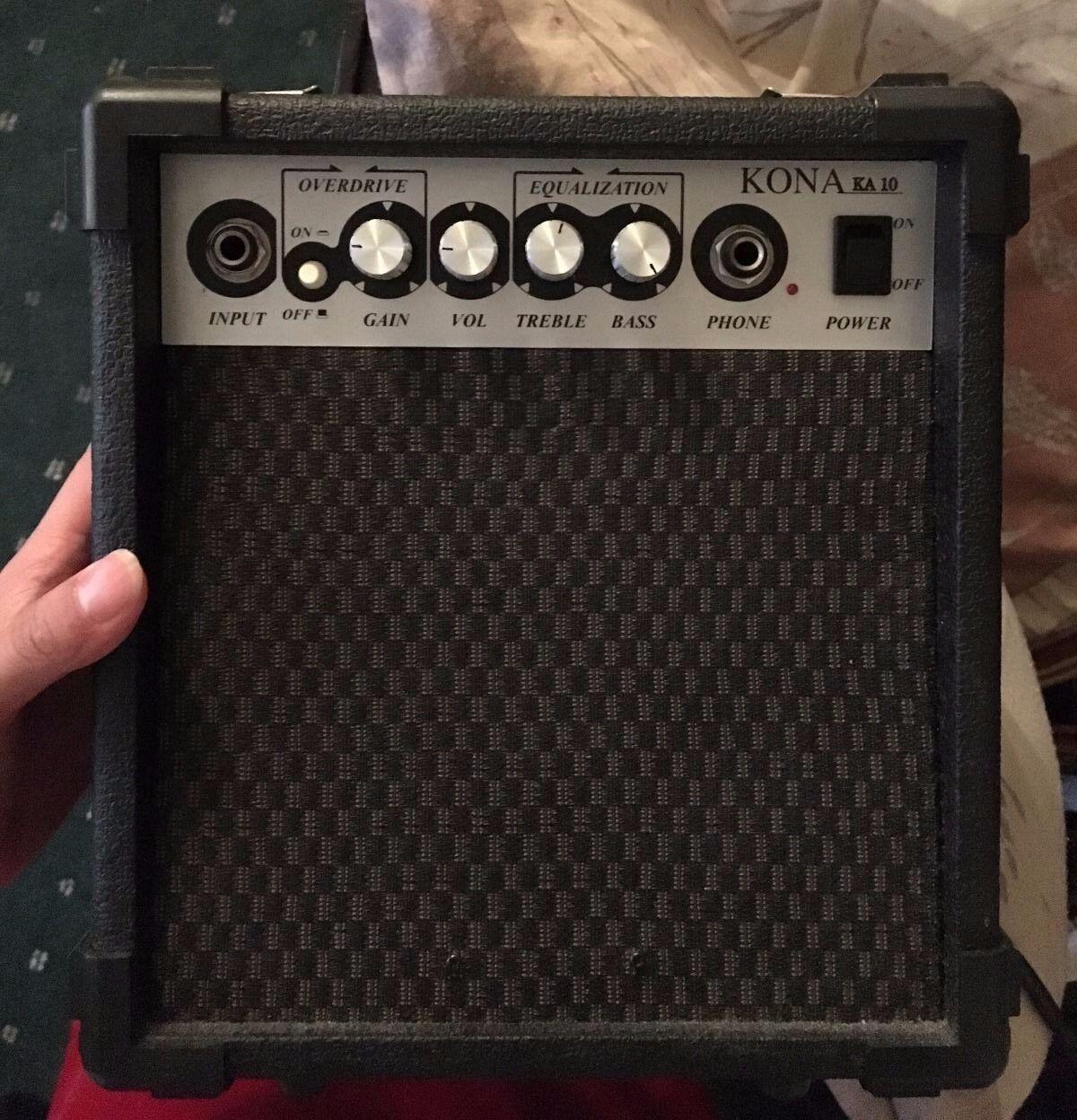 Kona 10-Watt Electric Guitar Practice Amplifier Power Amp w  Overdrive