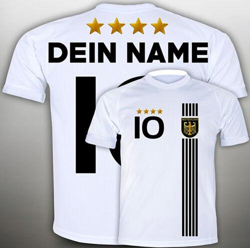 Deutschland Trikot 164 mit WUNSCH NAMEN Nr #D2017t