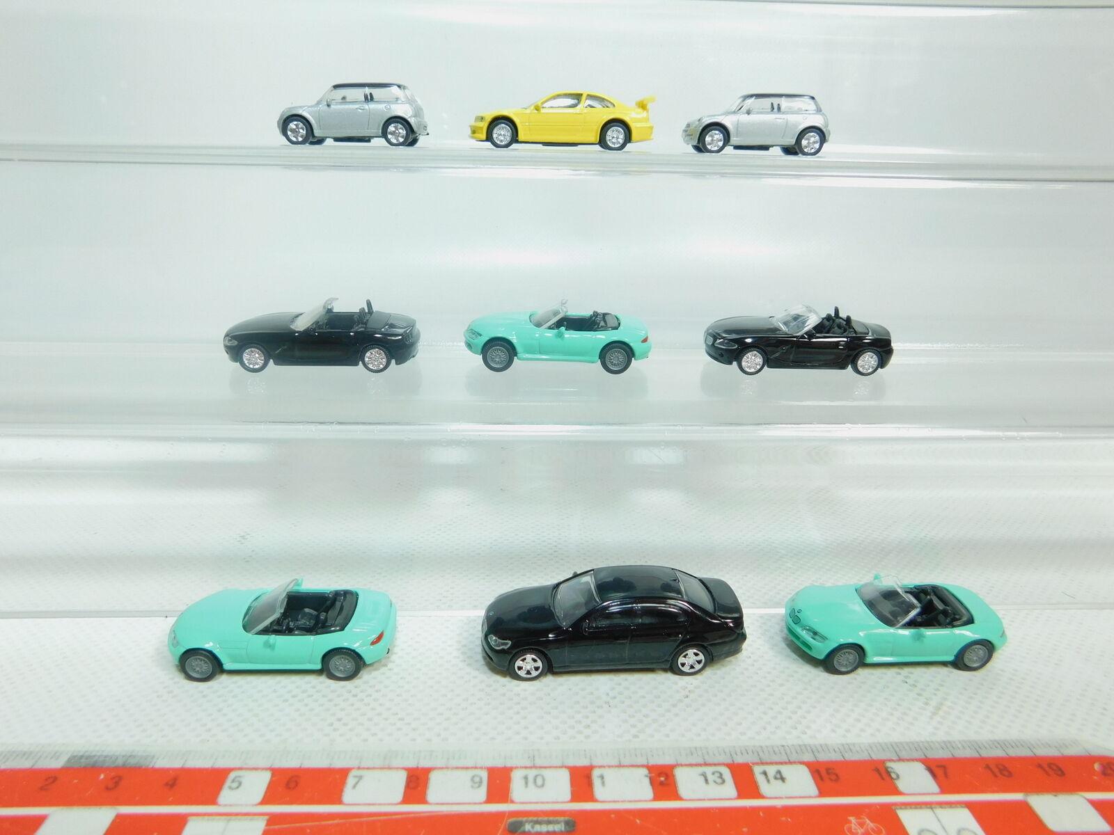 BN181-0, 5  9x Highspeed H0   1 87 Metall-Auto BMW   Z3+ Mini Cooper Etc. ,Nuevo