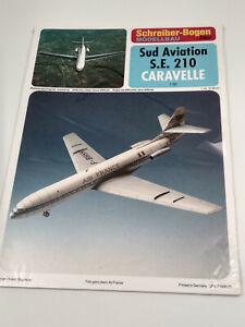 Avion-Caravelle-sud-aviation-maquette-a-monter-en-carton-belle-qualite-64x68cm