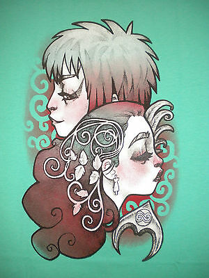 LABYRINTH Artwork Jim Henson Jareth/Sarah David Bowie TeeFury TEEVILLAIN T-SHIRT