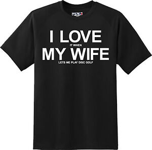 Funny-I-love-My-Wife-Disc-Golf-Outdoor-Sport-Husband-T-Shirt-New-Graphic-Tee