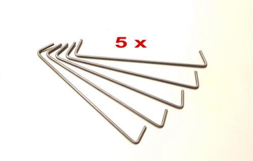 25 cm 5x Edelstahl Gabionenhaken Steinkorb Gabione Distanzhalter Haken 4 mm