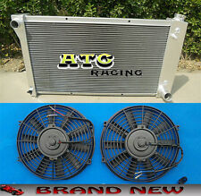 FOR 1967-1972 Chevy Pickup Truck 1968 1969 70 71 3-Row Aluminum Radiator & Fans
