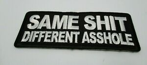 Biker-Leather-Vest-Patch-SAME-SH-T-DIFFERENT-iron-on-or-sew-on-Harley-Rider