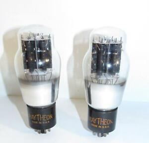 Identical Matched Pair- Raytheon 6A5 amplifier tubes. TV-7 test strong.