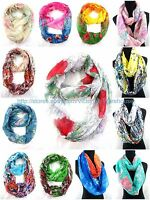 Us Seller , 12pc Abstract Flower Circle Loop Scarves For Women