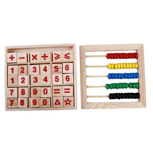 Wooden Abacus Children Kids Counting Number Maths Learning Toy GG