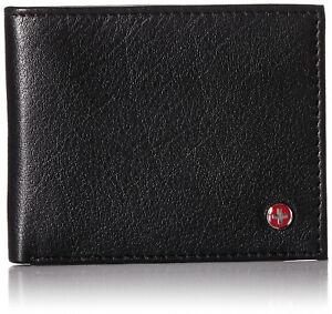 Alpine-Swiss-Mens-Thin-Bifold-Wallet-Top-Grain-Leather-EZ-Access-Outer-Card-Slot