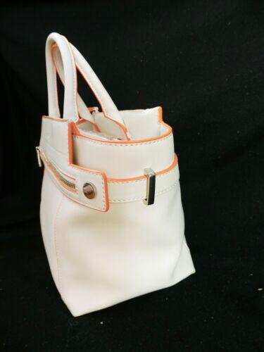 White Arbeidende Edge Off Bag Abbey Tote In Large Zip Orange Fiorelli Highlighted wn4qfgnP