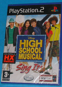 High-School-Musical-Sing-It-Sony-Playstation-2-PS2-PAL-New-Nuovo-Sealed