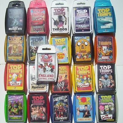 Card Game Choose From Drop Down Top Trumps Packs Many Various Specials Etc