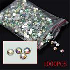 1000Pcs Nail Art Flatback 14 Facets Crystal AB Resin Round Rhinestone Beads 4mm