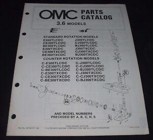 Auto & Verkehr LiebenswüRdig Parts Catalog Omc 3,6 Standard Anleitungen & Handbücher Rotation Models Ersatzteilkatalog November 1985