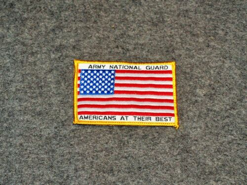 USA MILITARY FLAG PATCH…ARMY NATIONAL GUARD…AMERICANS AT THEIR BEST