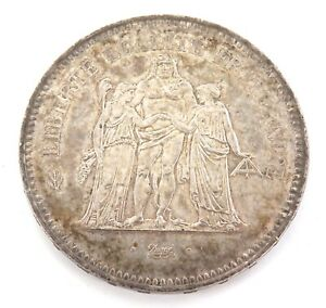 HIGH-GRADE-1978-FRANCE-FRENCH-50-FRANCS-SILVER-COIN