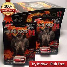Rhino 11 Platinum 9000 3D 10 Pills Best Male Sexual Performance Enhancer 12/2020