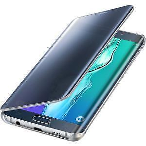 buy popular d195f 8a982 Samsung S-view Clear Flip Cover for Galaxy S6 Edge Plus - Black/Blue for  sale online | eBay