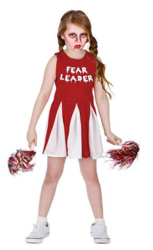 Filles Rouge//Wite Fear leader haloween costume robe fantaisie