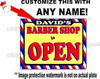 Personalized Barber Shop Open Sign, Barber Supplies, Any Name On This Sign,