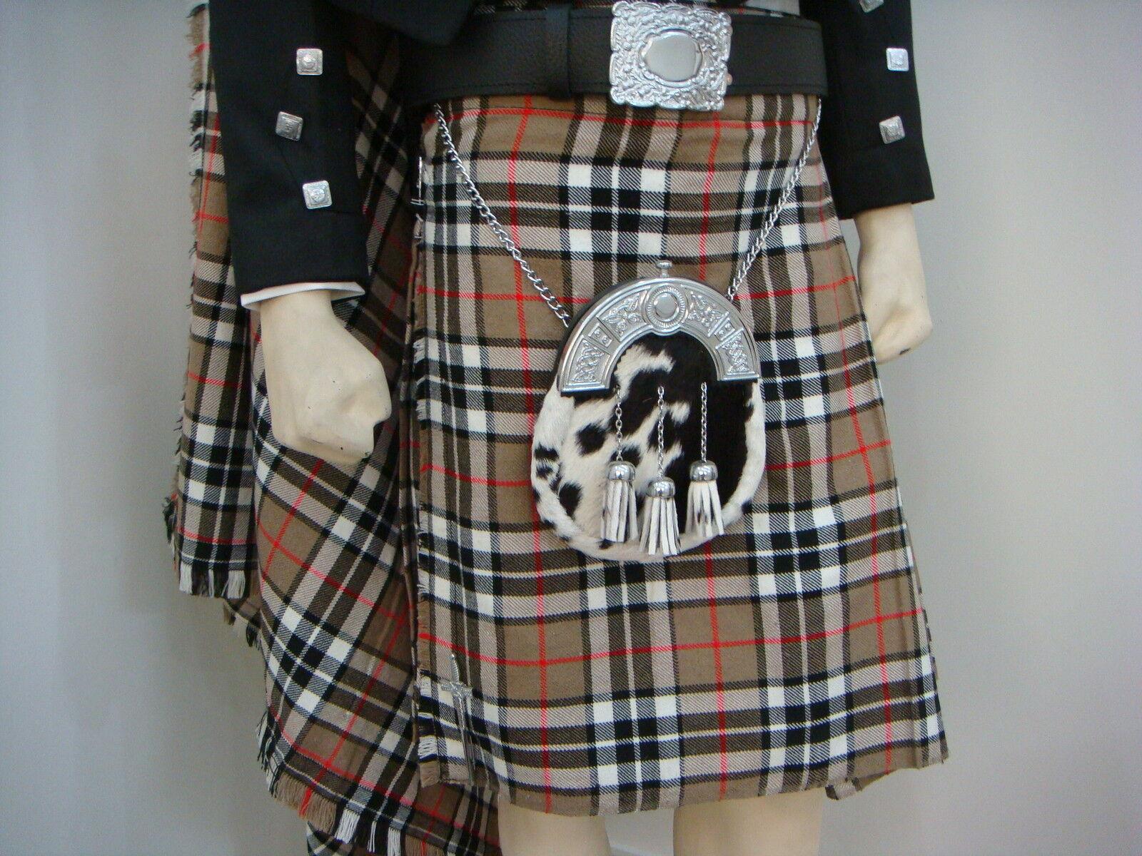 Scottish   Thomson Tartan Heavy Kilt & Kilt Pin   Geoffrey