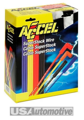 ACCEL Uprated 7mm giallo SUPER STOCK spark plug lead wires-straight