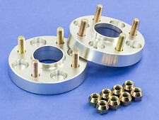 32MM | Silver Hubcentric Wheel Spacers | For Nissan 4x114 | 66.1 | 12x1.25