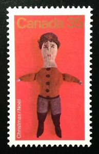 Canada-841-MNH-Christmas-Antique-Toys-Knitted-Stuffed-Doll-Stamp-1979