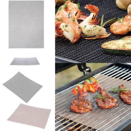 BBQ Grillmatten Teflon Barbecue Grill Matte Antihaft-Ersatz Mesh Drahtnetz Cook