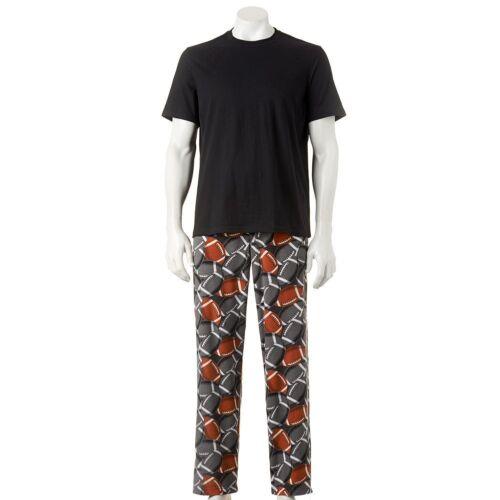 New Men Sonoma Pajama Set  Black Tee Microfleece Lounge Pants Size L MSRP $40